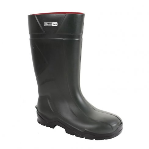 'Blackrock' Green PU Non-Safety Wellington Boot