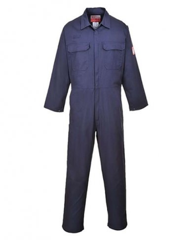 'Portwest' Navy Flame Resistant Boilersuit