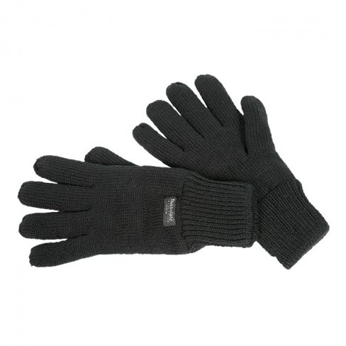 Thinsulate Black Knitted Glove - pack 2