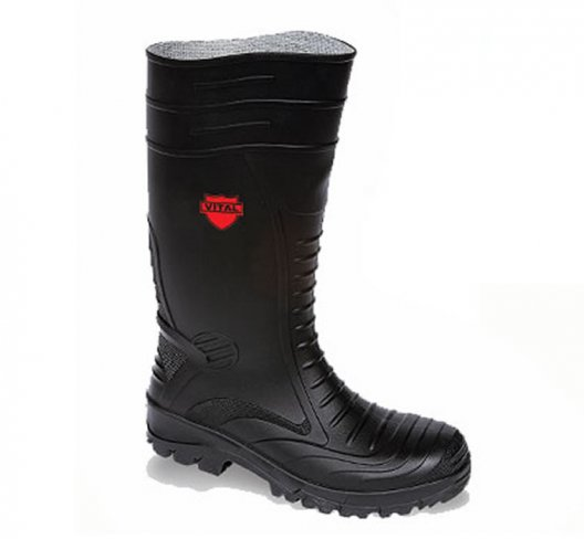 Toesavers Black PVC Safety Wellington Boots
