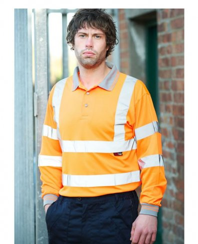Warrior Long Sleeved Hi Vis Orlando Polo Shirt