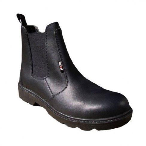 Shock Absorption Warrior Black Chukka Safety Work Boots Anti Static//Oil//Shock