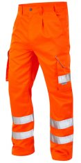 LEO Bideford Hi Vis Class1 Poly/Cotton Cargo Trousers x2
