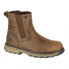 Caterpillar Pelton Dark Beige Safety Dealer Boot