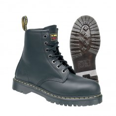Dr Martens Icon Black Leather Lace Safety Boots