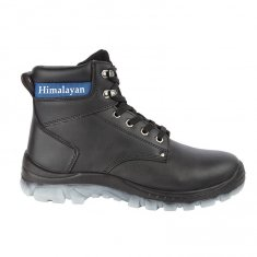 Himalayan Black Leather Upper Safety Ankle Boot