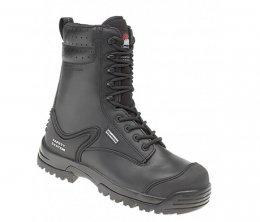 Himalayan Black Leather Metal Free Safety Combat Boot