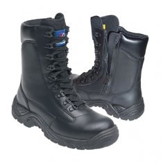 Himalayan Black Leather High Cut Safety Boots
