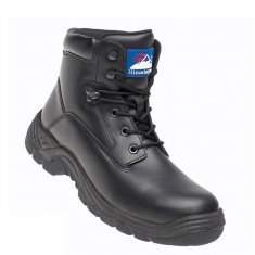 'Himalayan' Black Leather Safety Boots