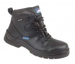 Himalayan Black Leather HyGrip 'Waterproof' Safety Boots