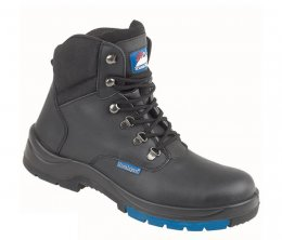Himalayan Black Leather HyGrip Safety Hiker Boot with PU/Rubber Outsole