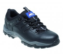 Himalayan Black Leather Safety Trainer - 4020