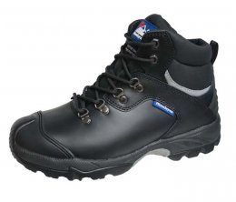 Himalayan Black Leather Waterproof Boot Metal Free Cap & Midsole