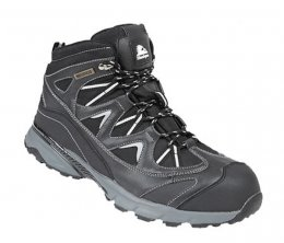 Himalayan Black Leather Waterproof Safety Hiker Boots