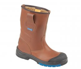 Himalayan Brown HyGrip Safety Warm Lined Rigger Boots