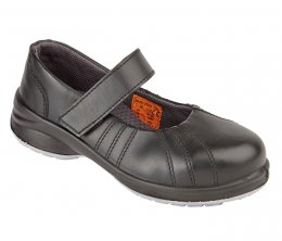 'Himalayan' Ladies Black Star Velcro Shoes