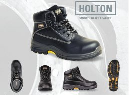 'TITAN' Holton Black Smooth Leather Safety Boots
