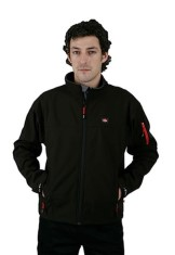 'Lee Cooper' Black Bonded Softshell Jacket