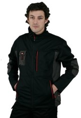 'Lee Cooper' Black Softshell Fleece Lined Jacket