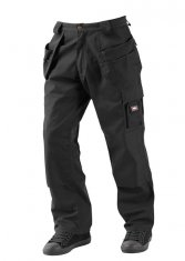 'Lee Cooper' Black Holster Pocket Workwear Trousers
