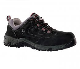 'Panoply' Utah 2 Work Safety Black Nubuck Leather Shoe