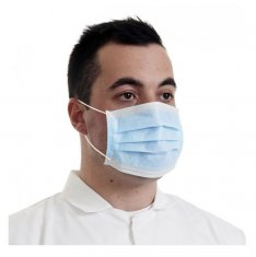 Blue 3 Ply Disposable Face Masks x50