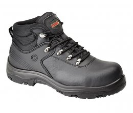 'Samson' Black Leather Waterproof Hiker Boots S3