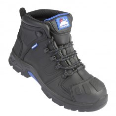 Himalayan Storm Black Leather Waterproof Safety Boots
