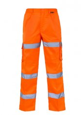 'Supertouch' Hi Vis 3 Band Combat Trousers