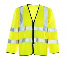 Hi Vis Long Sleeved Vest - Zipped Fastening