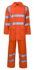 Nylon-PVC Hi Vis Rainsuit