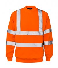 'Supertouch' Hi Vis Crew Neck Sweatshirt