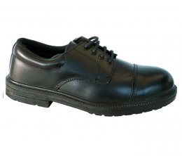Toesavers Black Leather Formal Safety Shoe