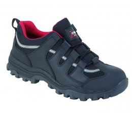 Toesavers Black Leather Safety Trainer