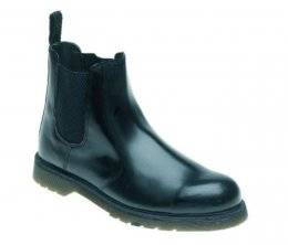 Toesavers Black Leather Safety Dealer Boot - AC03
