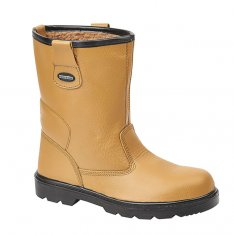 'Tuffking' Tan Safety Rigger Boot