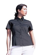 'Uneek' Ladies Pinpoint Oxford Half Sleeve Shirt