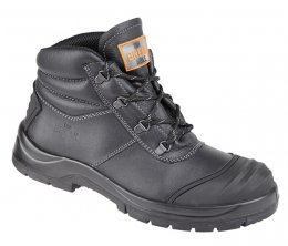 'UNBREAKABLE' Black Leather Renovator Safety Chukka Boot