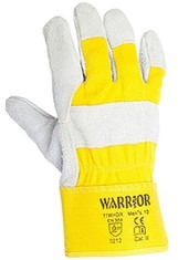 'Warrior Plus' Grey Lined Rigger Gloves