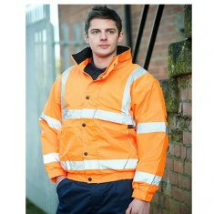 'Warrior' Memphis Hi Vis Bomber Jacket