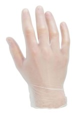 Clear Medical Grade Vinyl Disposable Gloves (100 per box)