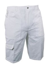 'Prodec' White Painters Shorts