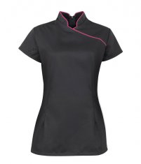Women's Stand Collar Black Beauty Saloon Tunic