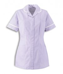 Womens-Healthcare-Strip-Tunic-ST298-White-Lilac.jpg