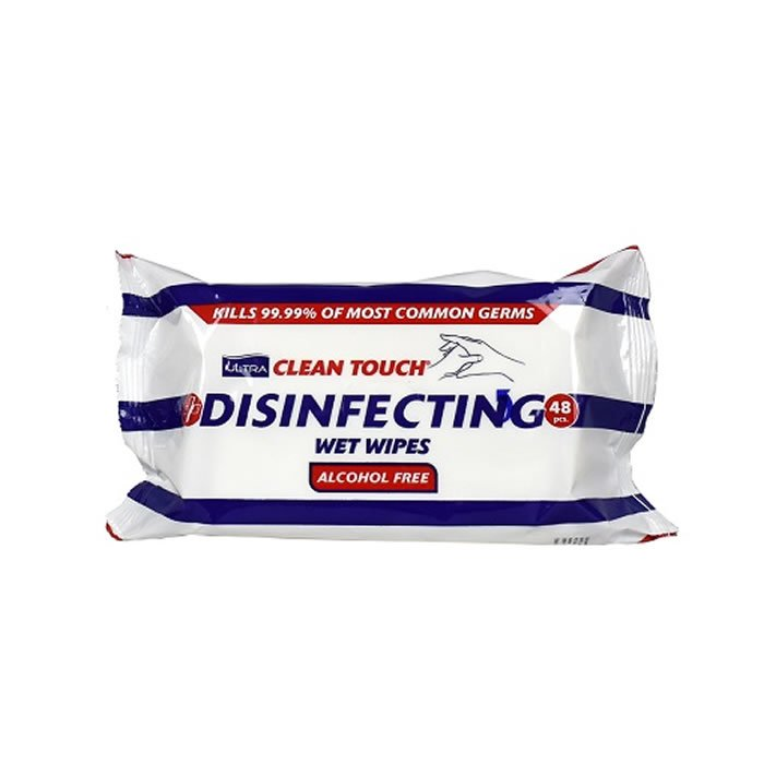Anti Bacterial Disinfecting Wet Wipes For Surfaces & Hands