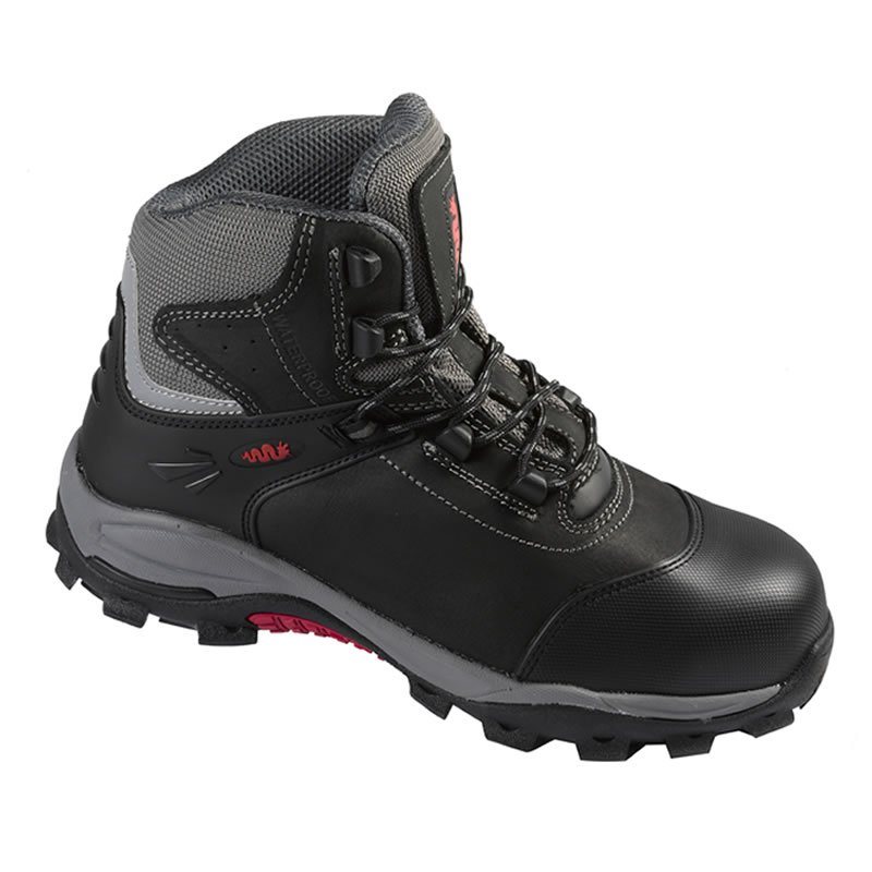 Black Composite Waxy Leather Waterproof Safety Boot