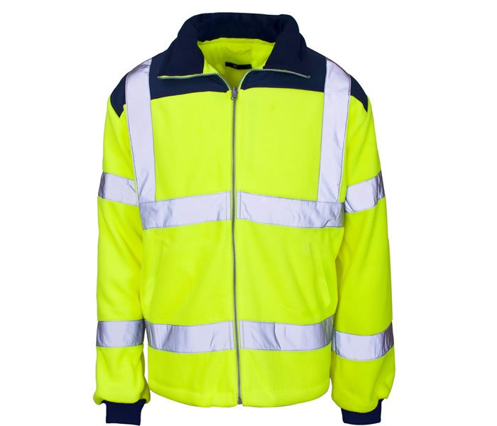 'Supertouch' Hi Vis Micro Fleece Jacket - Rain Patch
