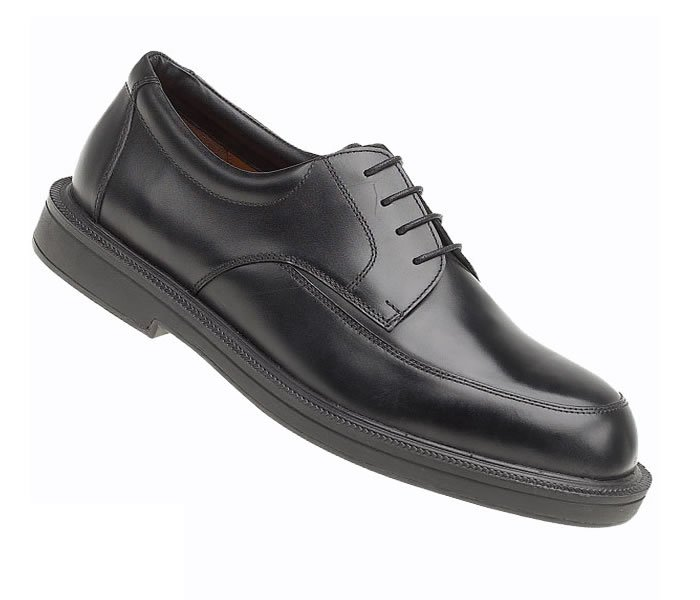 Himalayan Black Leather Executive Safety Shoes