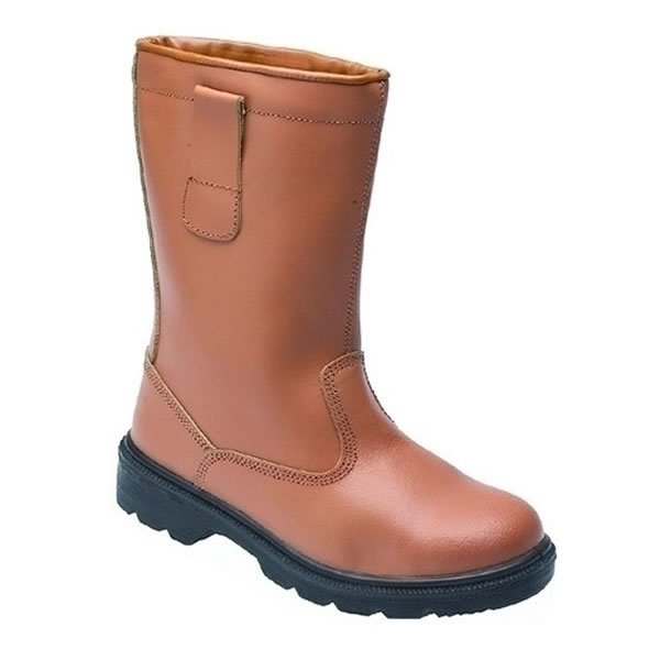 Tan Leather Safety Rigger Boots