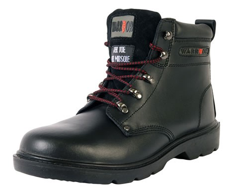 'Warrior' Black Ankle Safety Boots